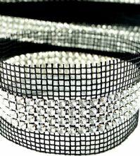 Crystal 4 Row Rhinestone Sew-in Trim